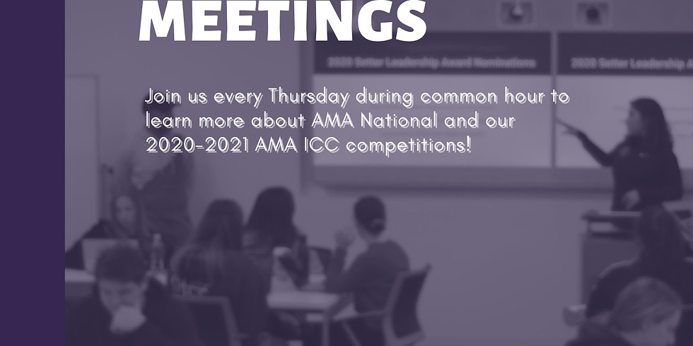 AMA Competition Meetings