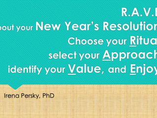 R.A.V.E. or Part II of Stickiness to your New Year's Resolution