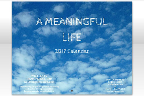 A Meaningful Life Calendar