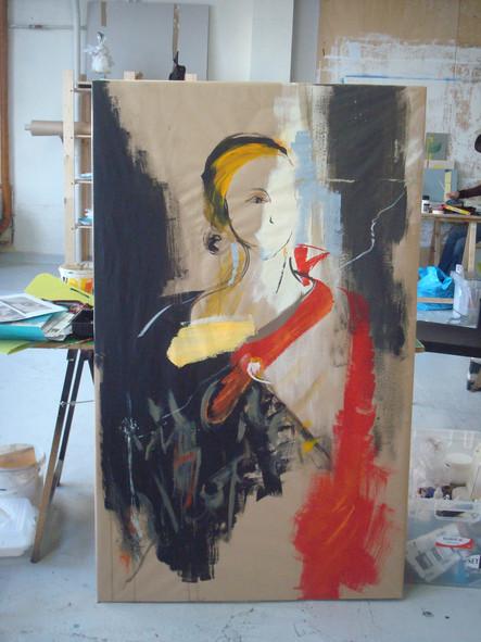 Autoportrait, Série sur kraft 2010