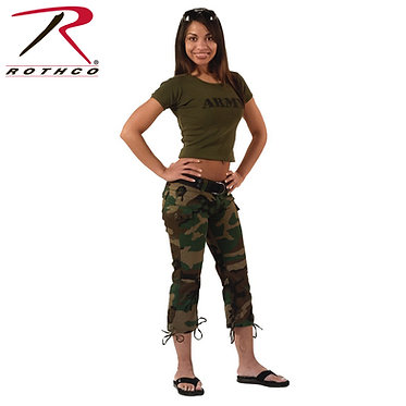 Women's Capri Pants Woodland