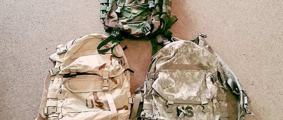 Assault packs, Bags