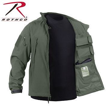 Concealed Carry Soft Shell Jacket Olive Drab
