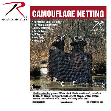 Rothco Military Type Camo Net #6504