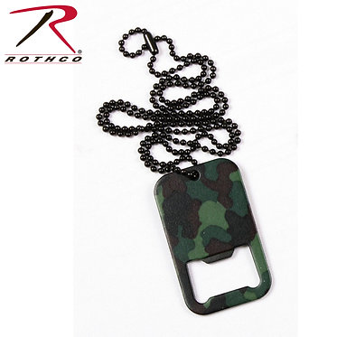 Dog Tag Bottle Opener Camo