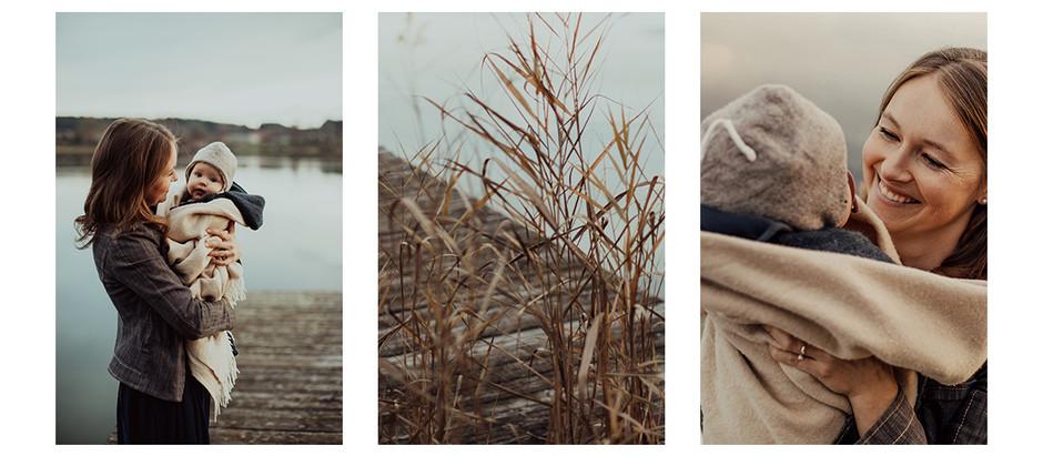 Winterfotoshooting auf dem Steg