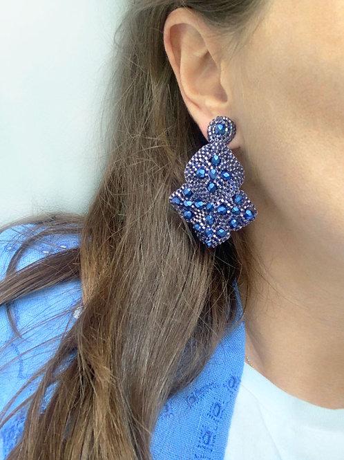 Utz oorbellen, blauw