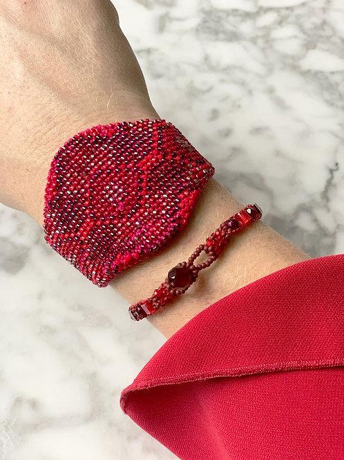 Utz brede handgemaakte armband