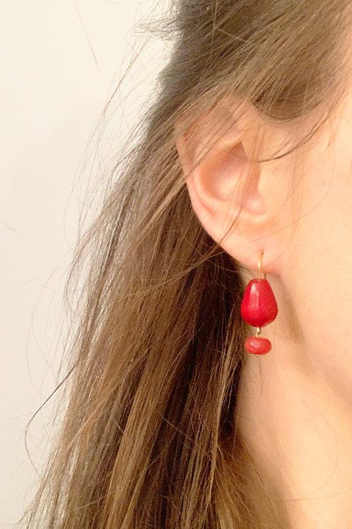 Jade oorbellen, Marleen Rameckers Atelier