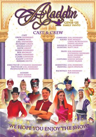 Aladdin Pantomime Programme