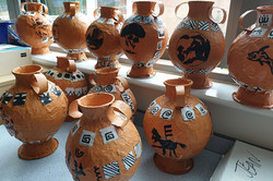 Keir Hardie Primary / Greek Papier Mache Vases
