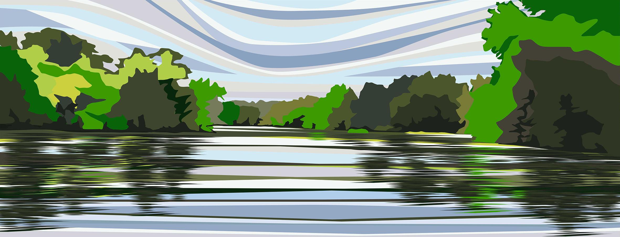 Higams Park Lake. 2020