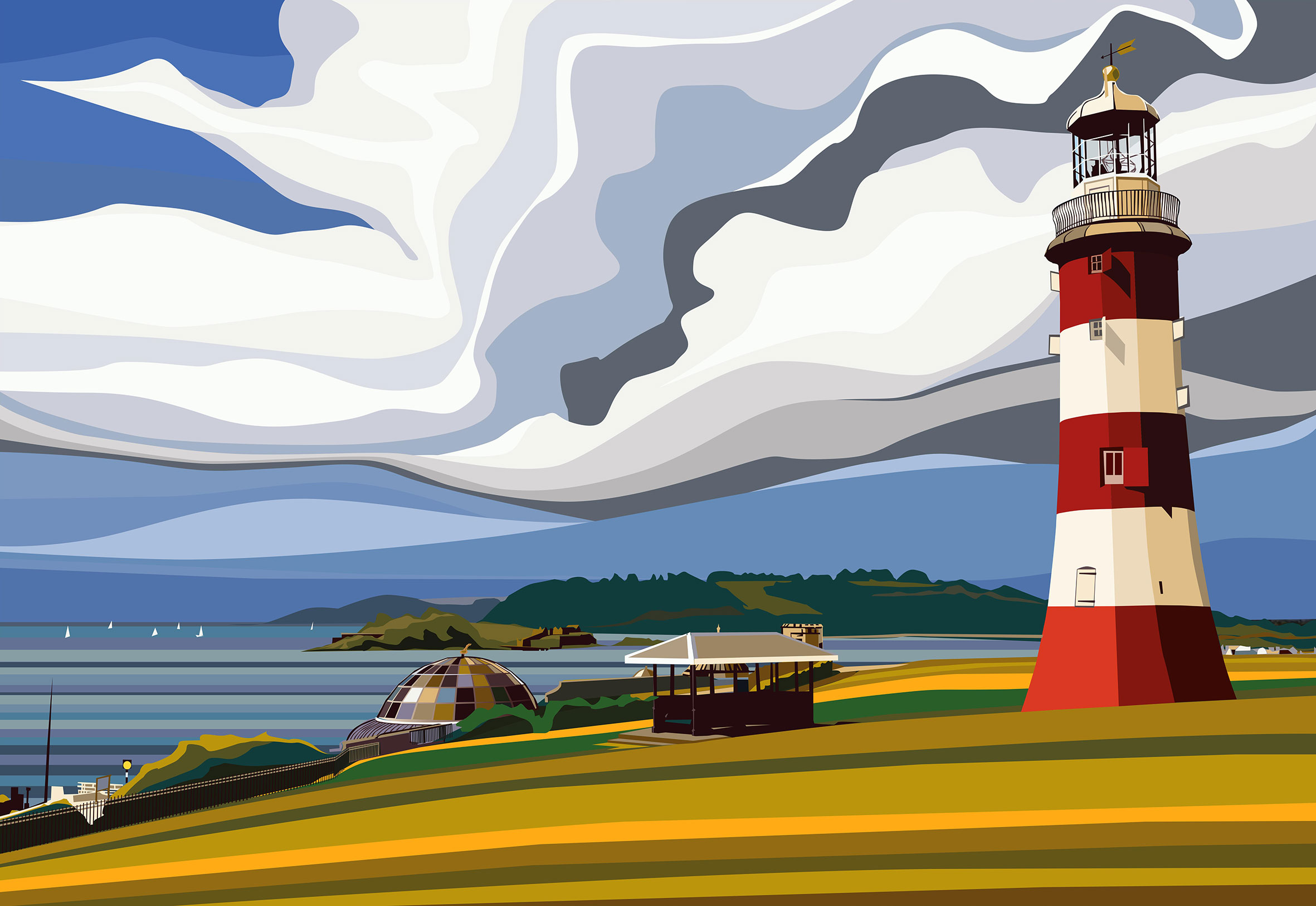 Plymouth Hoe and Sound. 2020