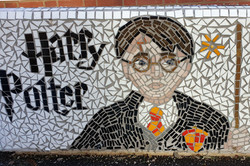 Parkside Primary / Mosaic Story Benches project/ Harry Potter