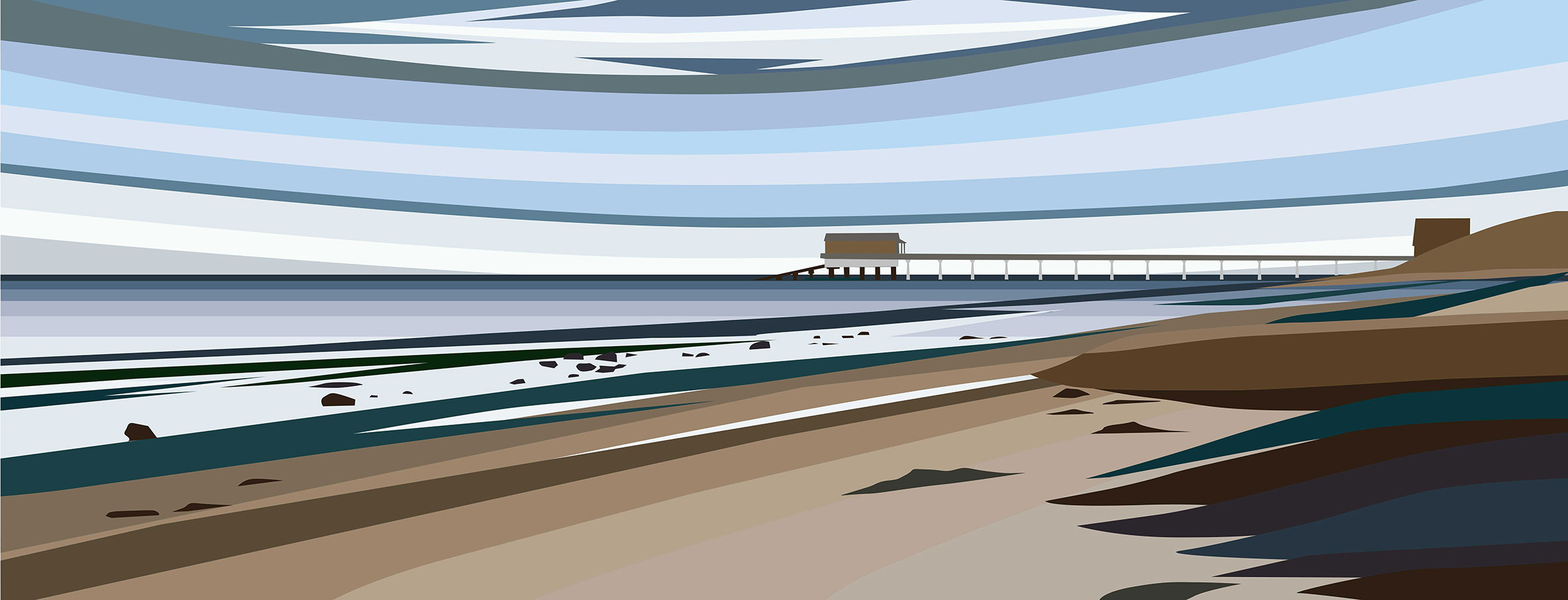 Bembridge Beach with Lifeboat, Isle of Wight. 2019