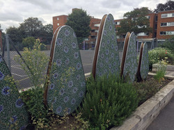 Sutton High School / Mosaic Tree Sculptures
