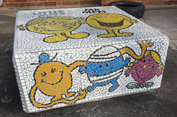 Parkside Primary School / Mr Men and Little Miss Story Bench