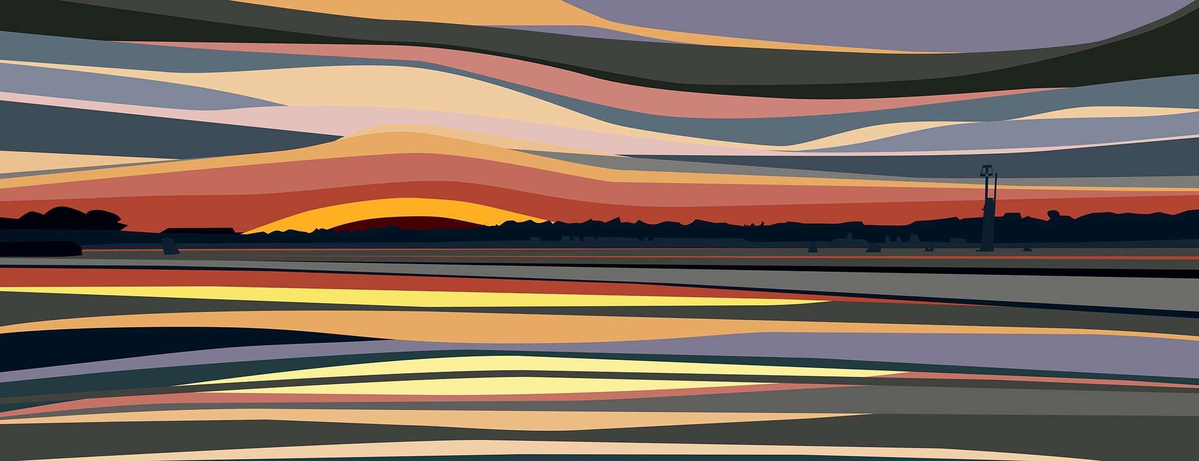 Sunset over Bembridge Harbour. 2019