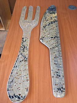 Parkside Primary School / Dining Hall Knife and Fork Mosaic