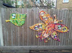 Walthamstow Montessori / Textural insects mosaic/ playground sculpture