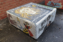 Parkside Primary / Mosaic Story Benches/ The Lion, the Witch and The Wardrobe