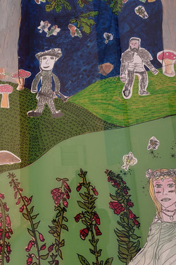 Dersingham Primary School / Midsummer Nights Dream Art Project with Year 6 pupils on Perspex Panels