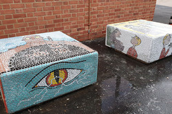 Parkside Primary / Mosaic Story Benches project
