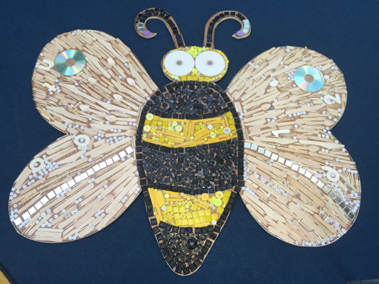 Keir Hardie / Textural insects mosaic/ playground sculpture