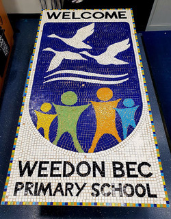 Weedon Bec Primary / Welcome Sign in Mosaic