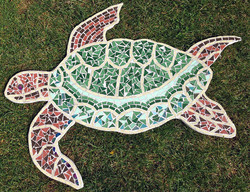Marconi Sailing Club Open Days / Recycled tile mosaic for Club House