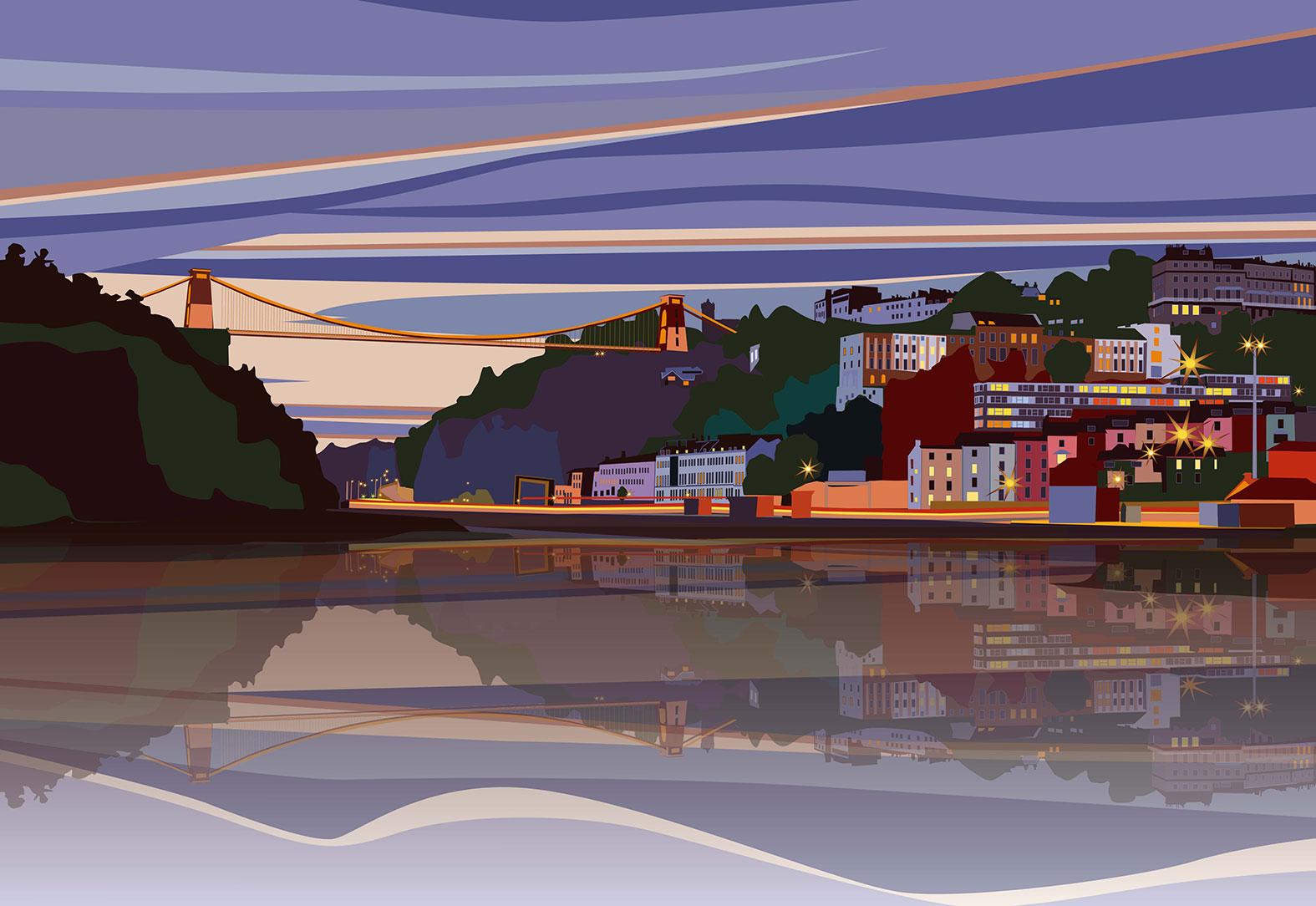 Evening Sky over Bristol. 2020
