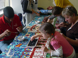 Collaborative Mosaic INSET as part of LB Waltham Forest Art Week