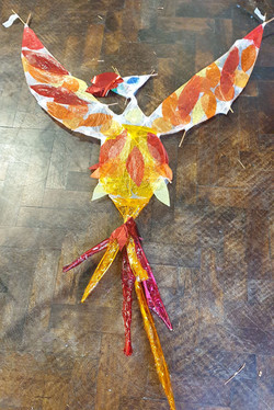 Mythical Bird Withie Sculptures at Wood Street Primary School