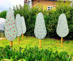 Parkside Primary/ Mosaic Trees Sculptures