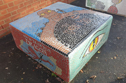 Parkside Primary / How To Train A Dragon - Section of Story Benches