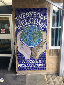 Essex Primary Welcome Sign Mosaic