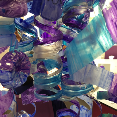 Canary Wharf College / Whole School Recycled Bottle Sculpture Installation