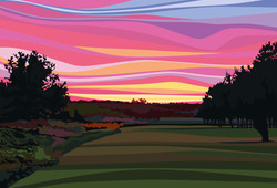 Sunset over Chingford Golf Course. 2020