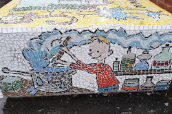 Parkside Primary / Roald Dahl Mosaic Story Bench
