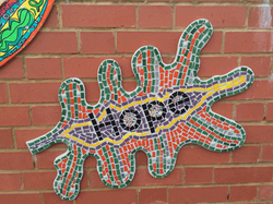 Churchfields Infant School / School values Tree Mosaic/ Mixed Media Installation