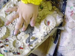 Waltham Forest EYFS plaster casting installation