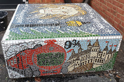 Parkside Primary / Mosaic Story Benches/ The Lion, the Witch and The Wardrobe/ Harry Potter