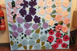 Parkside Primary School / Flowers on Canvas Year 5 Sewing Project