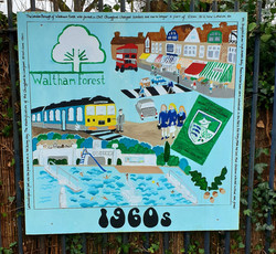 Parkside Primary School / LB of Culture funded painted hoardings project