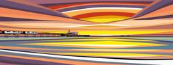 Sunset over Sandown Pier. 2020