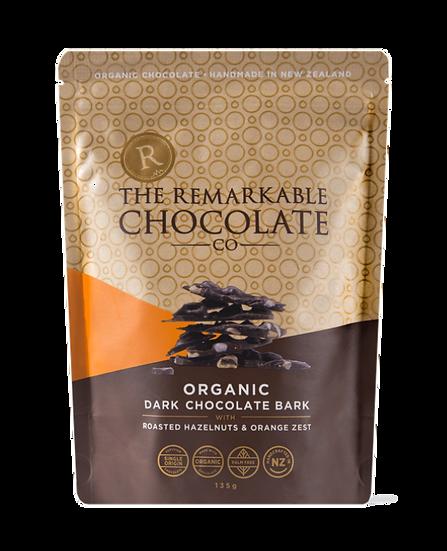 Organic Chocolate Bark   Hazelnut & Orange Zest
