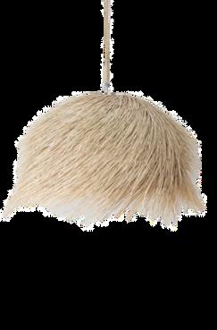 Demi boule suspension palmier