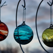 Strawberry, Teal and Olive Wisp Baubles