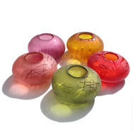 Peach, Olive, Strawberry, Amber and Fuchsia Drizzle Tealights