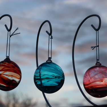 Strawberry, Teal and Peach Wisp Baubles